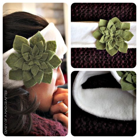 ear warmer headband with a flower (via diaryofamadcrafter)