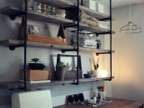 industrial rustic shelf