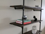 diy industrial bookshelf
