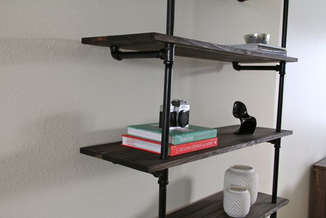 Picture of diy industrial bookshelf for Diy cassette shelf
