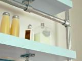floating bathroom shelf