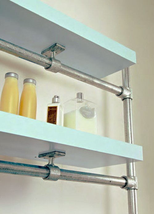 floating bathroom shelf (via simplifiedbuilding)
