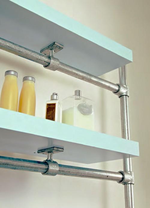 floating bathroom shelf (via simplifiedbuilding)