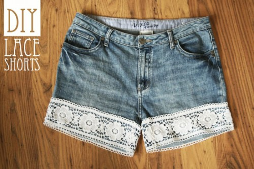 lace shorts (via bywilma)