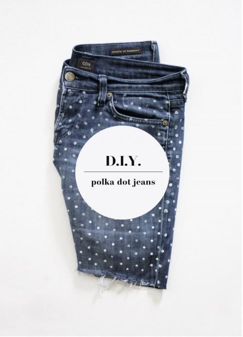 white polka dot jeans (via houseandhold)