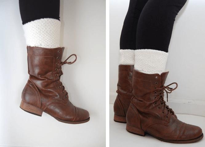 simple white leg warmers