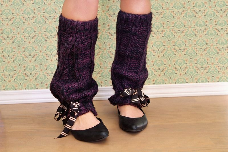 funny leg warmers with ribbon