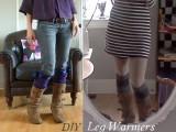 ribbon leg warmers