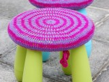 striped crochet covers