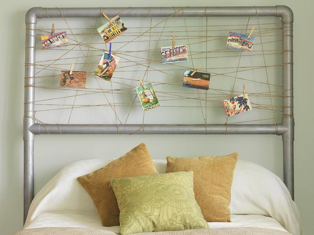 PVC pipes headboard