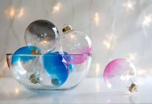 Awesome Diy Ombre Glass Ornaments For Winter Decor