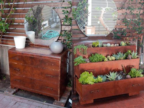 old dresser planter