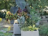 concrete planters from pavers
