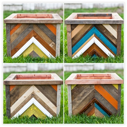 chevron planter box (via zelophotoblog)