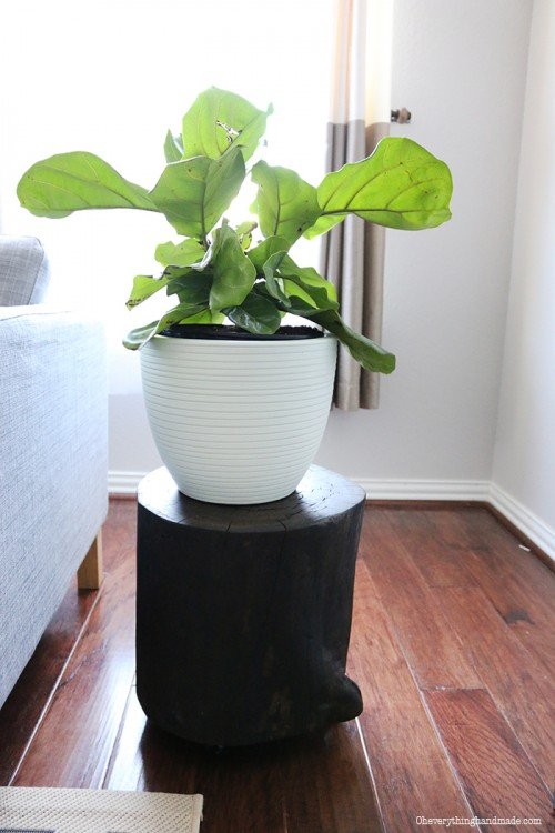 wood stump plant stand (via oheverythinghandmade)