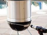 mini smoker of a Weber grill