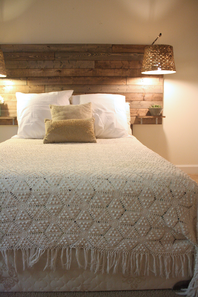 Picture of simple rustic headboard for Simple headboards