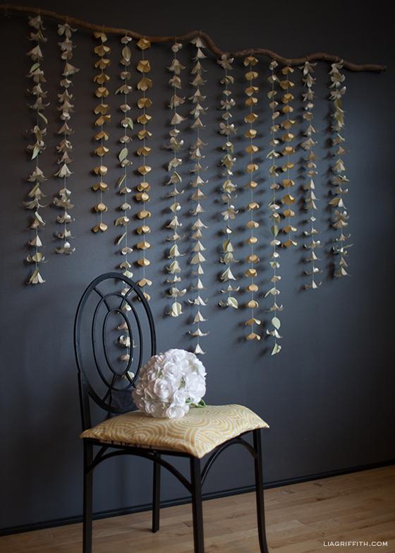 cascading flower garland