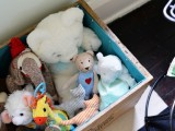 fabric lined toy box