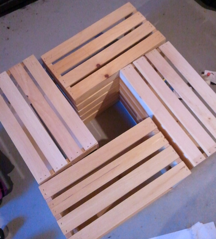 Picture Of Awesome Diy Wine Crates Table