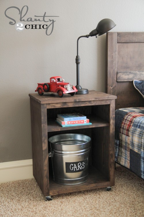 simple nightstand of wood (via shelterness)