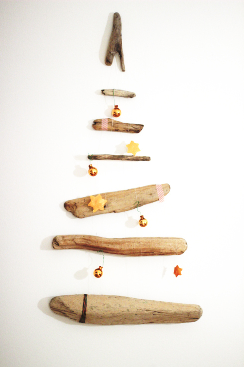 hanging driftwood tree