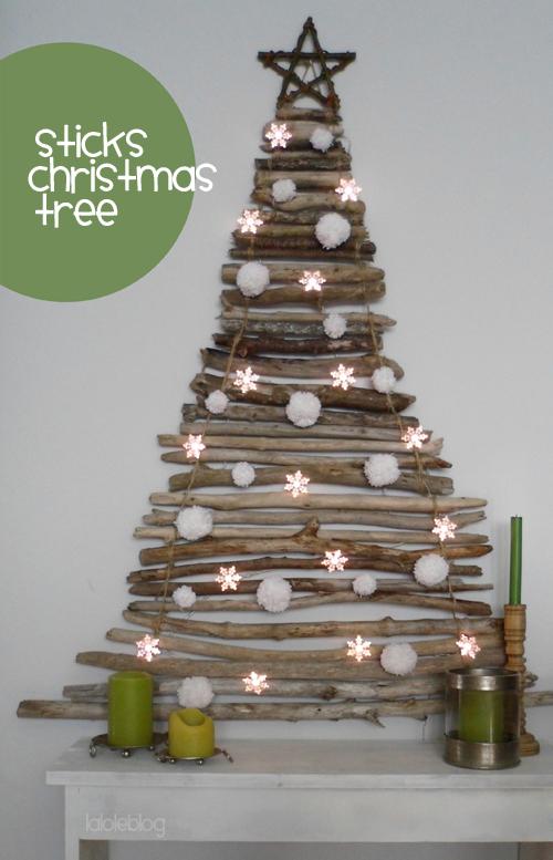 wall driftwood festive tree