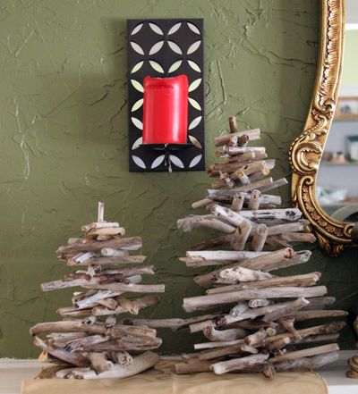 easy tabletop driftwood tree