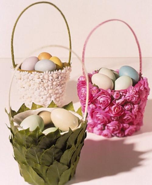 silk flower basket (via shelterness)