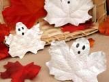 spooky ghost leaves