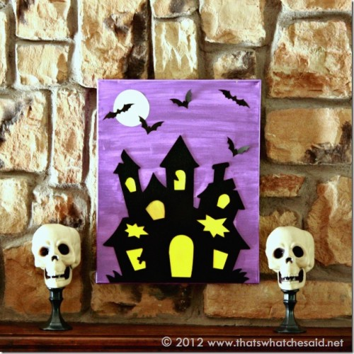 Halloween canvas (via shelterness)