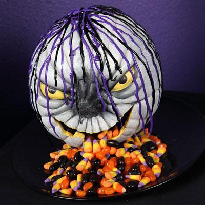 petrifying pumpkin candy dish