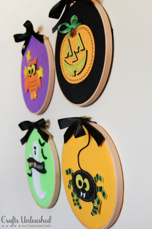 Halloween wall hangers (via craftsunleashed)