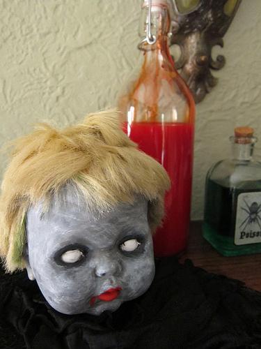zombie baby head (via justcraftyenough)
