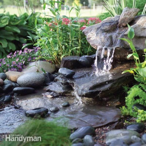 Low-maintenance DIY stone fountain. Less than two days to make it. (via familyhandyman)