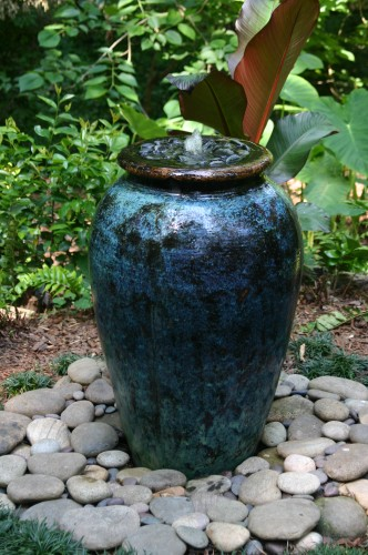 Fountain Constructed From A Turquoise Italian Style Urn Is A Perfect  Addition To A Small