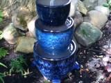 blue planters waterfall