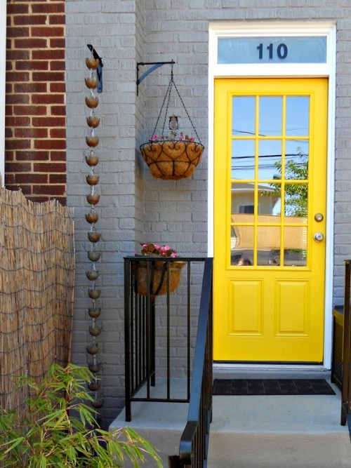 Vertical water feature could make your front porch better.