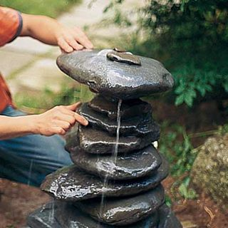 creative stone fountain