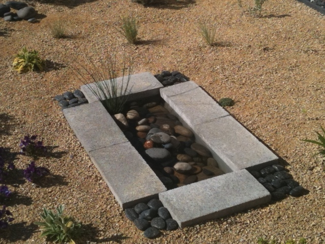 Picture of modern garden feature for Contemporary garden ponds