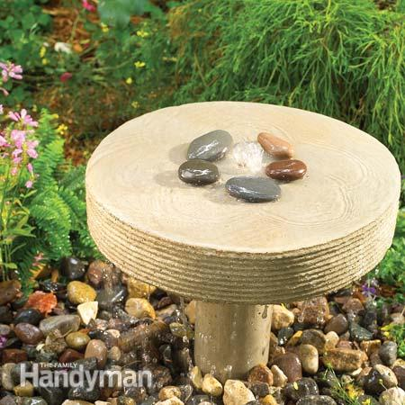 A few bags of concrete and some hardware odds and ends are only things you need to build this cool gurgling fountain. (via familyhandyman)