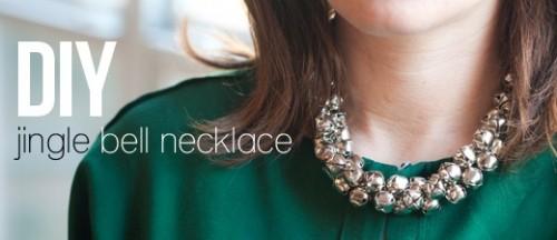 diy jingle bells necklace