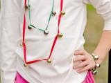 jingle bells necklace and bracelet