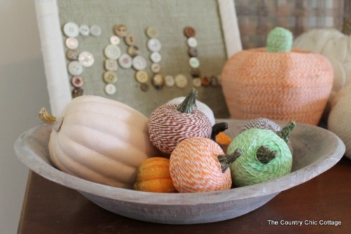baker's twine pumpkins (via shelterness)