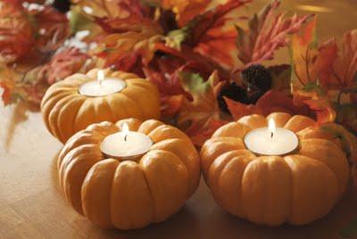 pumpkin candles (via shelterness)