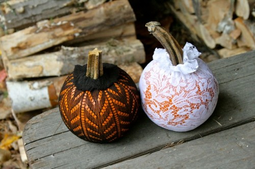 cute dressed pumpkins