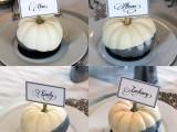 glitter pumpkin place cards