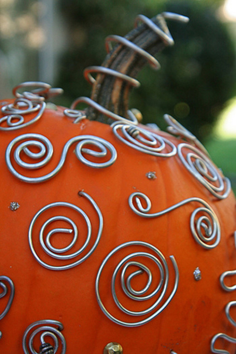 hardware decor pumpkins (via curbly)