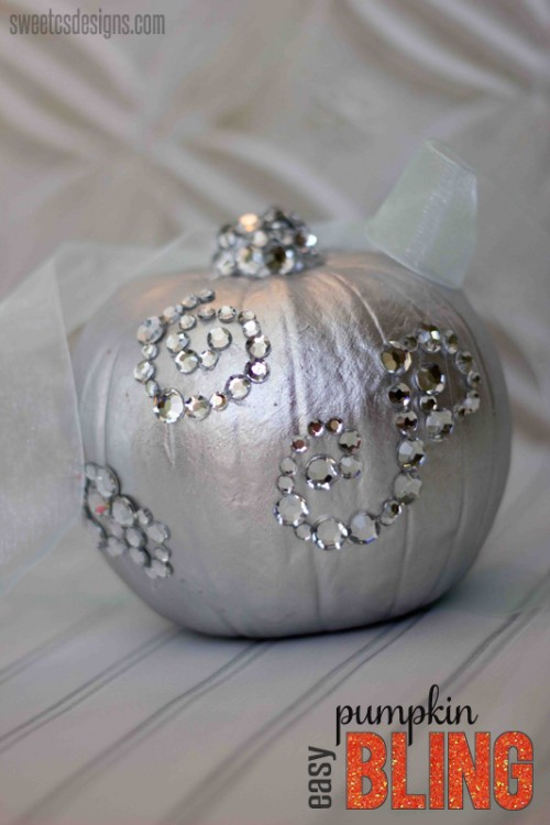 easy pumpkin bling (via sweetcsdesigns)