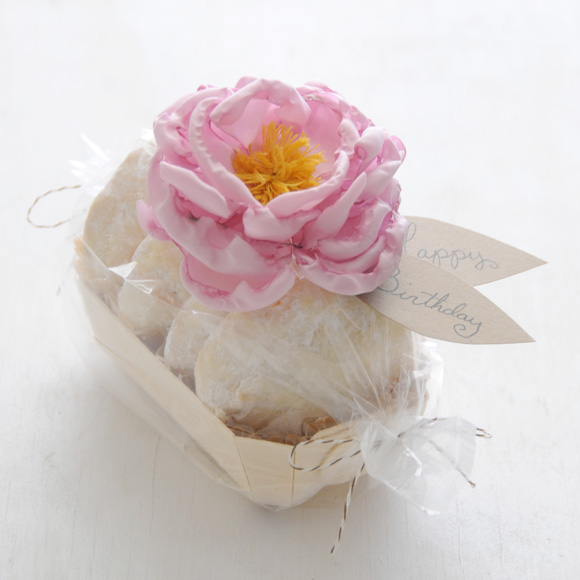 peony gift toppers